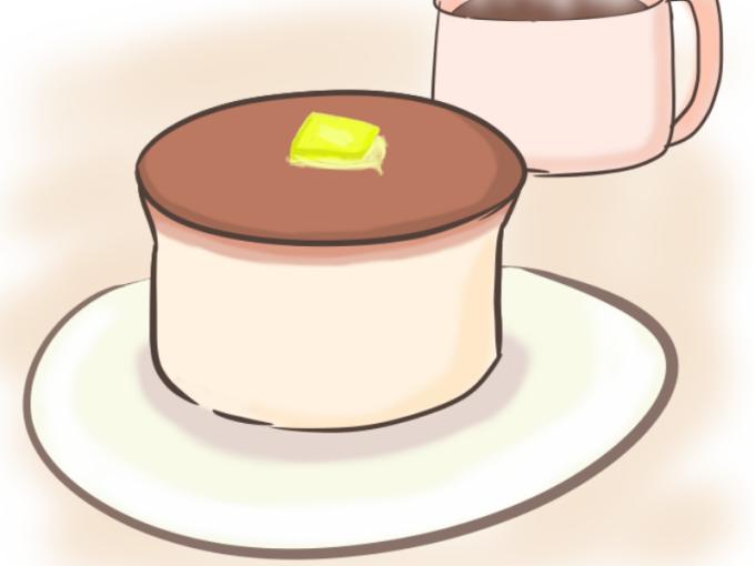 ホットケーキミックスで作る分厚いパンケーキの作り方