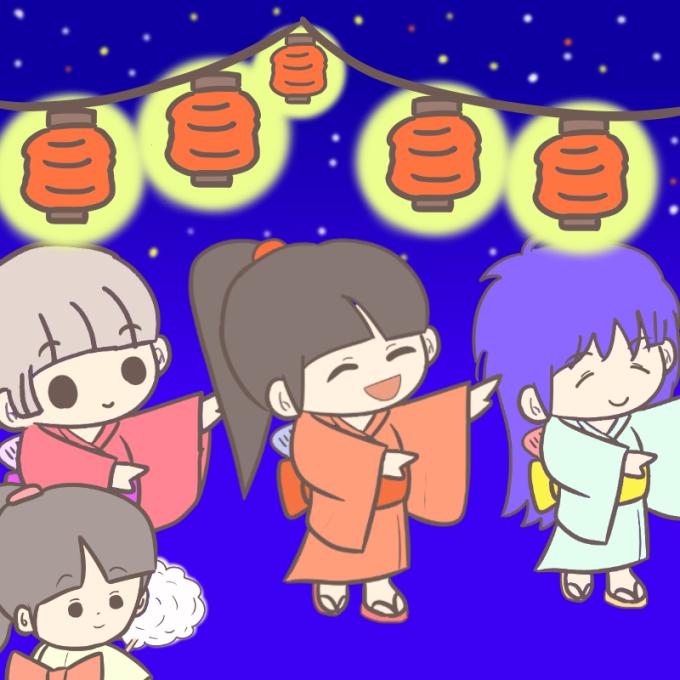小学校・幼稚園夏休み行事に!盆踊りと夏祭りの無料イラスト画像集まとめ中